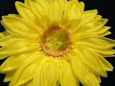 """Vintage Millinery Flower 6"""" Huge Yellow Sunflower Trim for Hat and Hair KB8"""