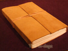 Carnet Cuir Naturel 240 Pages 26x20x3 Artisanat Inde 1