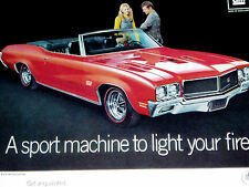 1970 BUICK SKYLARK CONVERTIBLE GS 455 STAGE 1 ENGINE PRINT AD-poster/sign-1971