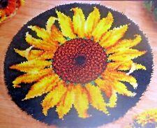 "LATCH HOOK RUG KIT  ""STRIKING SUNFLOWER"" Floral design by Craftways"