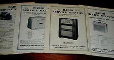 4 Vintage 1940-1950's WESTINGHOUSE 502 605X RCA Victor R450 Radio Phono Manuals