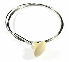New VW Type 3 Front Hood Release Cable Ivory Knob 1961-1968