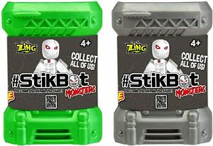 2 X STIKBOT MONSTERS SURPRISE FIGURE