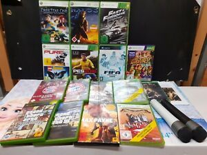 Bundle Xbox 360 mit 16 Spiele +2 Mikrofone / konvolut / eingeschweißt / SAMMLUNG
