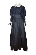 *CHANEL* VINTAGE FULL LENGTH GOTHIC BLACK SILK BALL GOWN