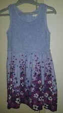 BNWT Girls Size 7 PUMPKIN PATCH Border Print Lace Dress RRP $49.99 Blue Allure