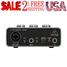 USB Audio Interface With Preamp For Recording Microphone Computer PC MAC IOS