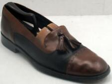 Bragano C0118 Italy Men's Black/Brown Leather Cap Toe Tassel Loafers 11 M Shoes