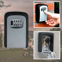 4 Digit Combination Password Key Box Wall Mount Safety Lock Organizer Case Tool