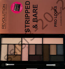Makeup Revolution Eyeshadow Palette STRIPPED & BARE Pro Looks Cruelty Free New