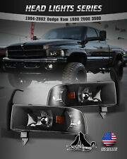 For 94-01 Dodge Ram 1500 2500 3500 Headlights Replacement Assembly Front Lamps