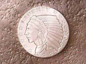 (1) 1/4 OZ 999 FINE SILVER |GOLDEN STATE MINT INDIAN HEAD EAGLE LIBERTY BULLION