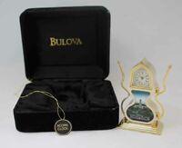 Bulova Miniature Acorn Clock B6208 Solid Brass
