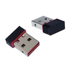 Mini adaptador Wifi USB 2.0 150Mbps pequeño 802.11n Negro