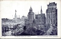 1905 Newspaper Square Illustrated Postal Card Co. No. 123 Undivided NYC Postcard