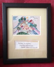"Roberta Hilliard Framed Art Print ""The Rainbow's Promise"" + Orange County obit"