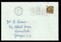 GB 1966 6d Parliament Bisect on Cover Accepted Glasgow P.O. WS20956