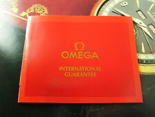 RARE VINTAGE OMEGA UNSIGNED CERTIFICATE OF GUARANTEE BOOKLET