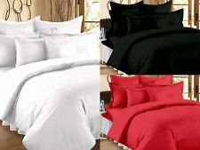 Solid Pattern 100% Egyptian Cotton Flat Bed Sheets With 2 Pillow Covers