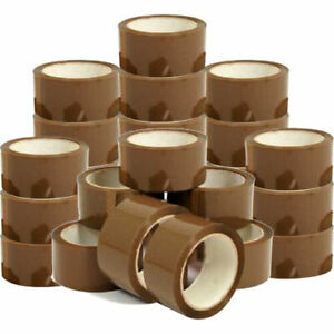 48MM x50M Big Rolls Brown Buff Tape Parcel Packing sellotape Box Sealing Quality