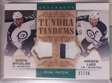 Dustin Byfuglien Andrew Ladd 14-15 Artifacts Tundra Tandems Dual Patch Jets /36