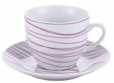 Tasses et soucoupes de table en porcelaine