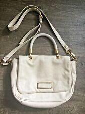 Marc by Marc Jacobs Ivory Leather Single Handle Handbag. Cross Body Strap. Gold.