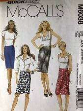McCalls Pattern 6038.  Size 4-12.   Quick & Easy.  Misses' Wrap Skirts.