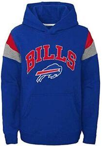 Buffalo Bills Youth Boys Color Block Pullover Hoody Sweatshirt
