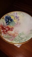 Antique Hand Painted Limoges Grapes RARE Compote Signed C. Kauhman (see photo)
