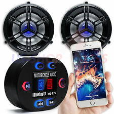 Waterproof Bluetooth Motorcycle Handlebar Audio Stereo Speaker System MP3 Radio