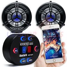 Waterproof Bluetooth Motorcycle Handlebar Audio Stereo Speaker System MP3 AUX FM