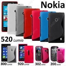 Cover hull case s line silicone gel film serie nokia lumia 520 625 800 920 925
