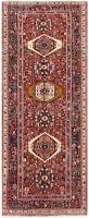 """Hand Knotted Karajeh Tribal Runner Rust Wool Nomadic Oriental Rug 5' x 13'2"""""""