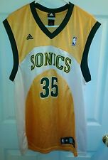 RARE Kevin Durant Seattle Supersonics Sonics GOLD Adidas Jersey Size Med