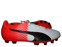 Puma evoSpeed 5.5 AG Kinder Fußballschuh weiß rot Nocken Kunstrasen Junior 30-39