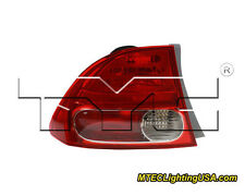 TYC Left Side Tail Light Lamp Assembly for Honda Civic Sedan 2006-2008