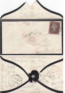 1854 QV CARDIFF COVER WITH A FINE 1d PENNY RED STAMP C1  ALPHA II ~ 99p START!
