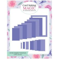 Card Making Magic Die Set A5 Nesting Rectangle Set of 14 by Christina Griffiths
