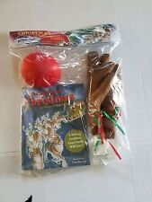 Car Reindeer Dress Up Costume Antler Kit With Nose & Story Book NIP