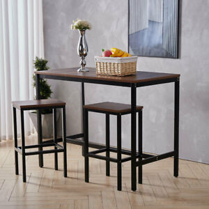 2/4Seater Kitchen Dining Table Chairs Space Saving Furniture Set Bistro Bar Cafe