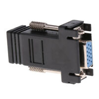VGA Extender Female to Lan RJ45 Ethernet Female Adapter Connector for PC