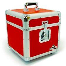 Flight cases rouges pour équipement audio professionnel