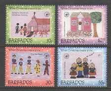 Barbados 1996 Natale/Saluti/UNICEF/Children's ART/ANIMAZIONE 4v Set n21400