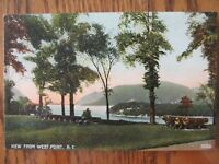 Vintage Postcard View From West Point New York Lake Park Mountain