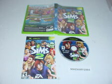 THE SIMS 2 game complete in case w/ Manual for Microsoft XBOX system