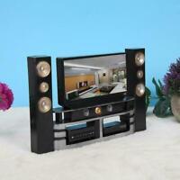 1:12 Puppenhaus Miniature TV Fernsehen Fernbedienung Lautsprecher Möbel Zubehör