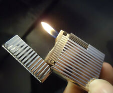 S. T. Dupont Line 1 Lighter - Silver Plated - Lined Pattern - Serviced