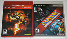 PS3 Video Game Lot - Resident Evil 5 (Used) Resident Evil 6 Dead Rising 2 (Used)