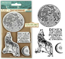 Stamperia Cosmos Wolf Rubber Stamp Set  4PCS